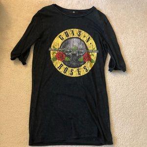 Missguided Guns N Roses Quarter Sleeves Dress